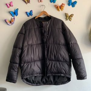 Urban Outfitters Black Large Puffer Jacket